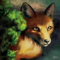 Fox Brush - SpeedPaint by GoldenDruid