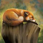 Fox Nap - SpeedPaint