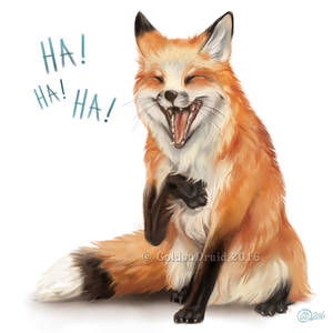 Laughing Fox - SpeedPaint