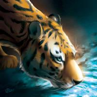 Drinking Water - SpeedPaint by GoldenDruid