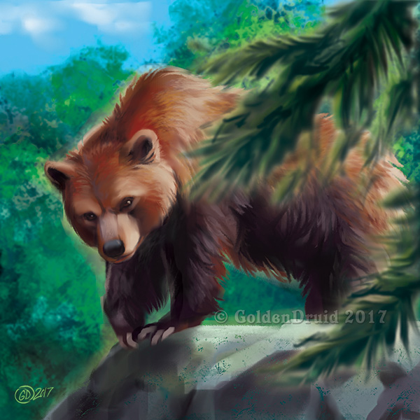 Grizzly Bear - SpeedPaint by GoldenDruid