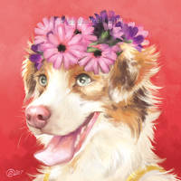 Wreath of Flowers - SpeedPaint by GoldenDruid