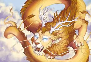LeoDragon Reborn - WIP4 by GoldenDruid