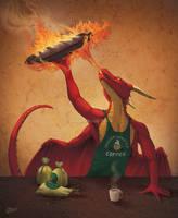 Dragon Roasted Coffee- SpeedPaint