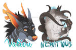 Flat Color Badges for Nematious