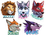 Summer 2018 Rough Shaded Badges 2