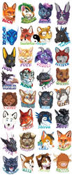 Assorted 2018 Portrait Badges by GoldenDruid