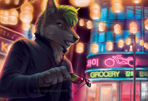 City Lights by GoldenDruid