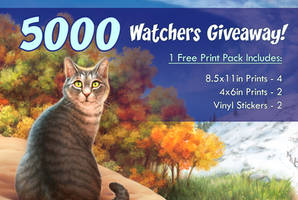 5000 Watchers Giveaway - LAST DAY by GoldenDruid