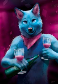 Blue and Rose - SpeedPaint