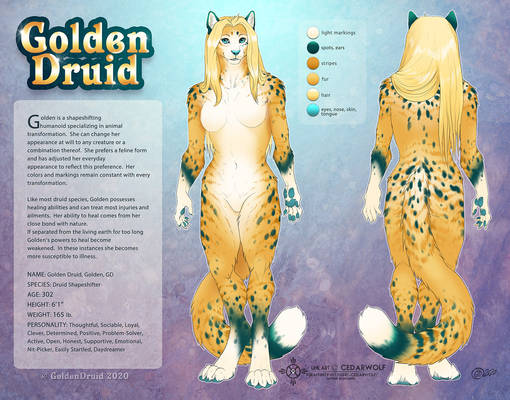 Golden Druid Ref Sheet 2020