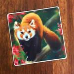 Cherry Red Panda Sticker