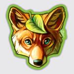 Leaf Fox Sticker