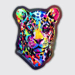 Colorful Leopard Holographic Stickers