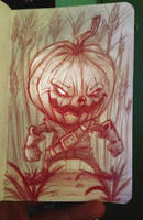 Pumpkinhead Sketch by nemesis222