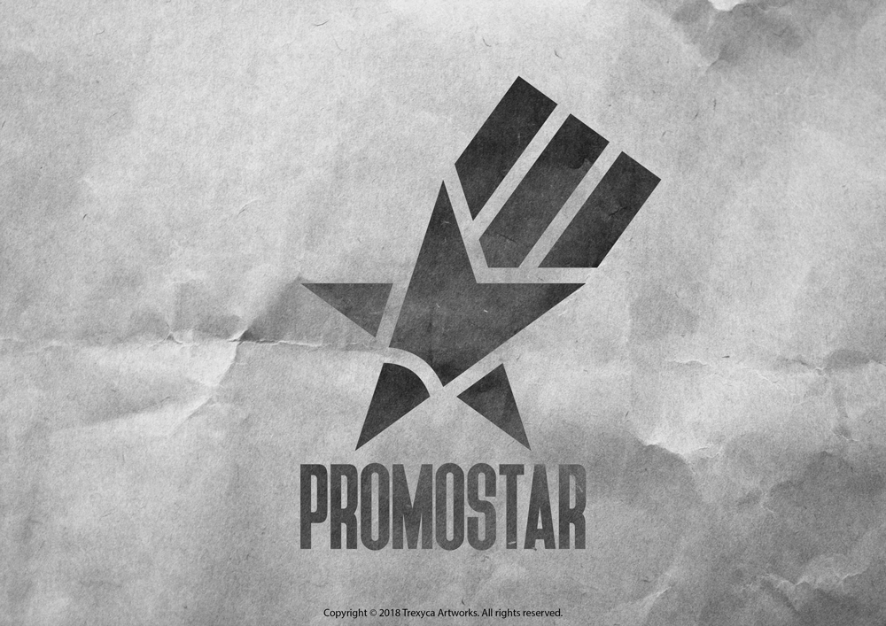 Promo Star Logo (Black and White) by TrexycaArtworks