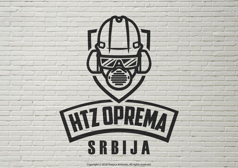 HTZ Oprema Srbija Logo (Black and White) by TrexycaArtworks