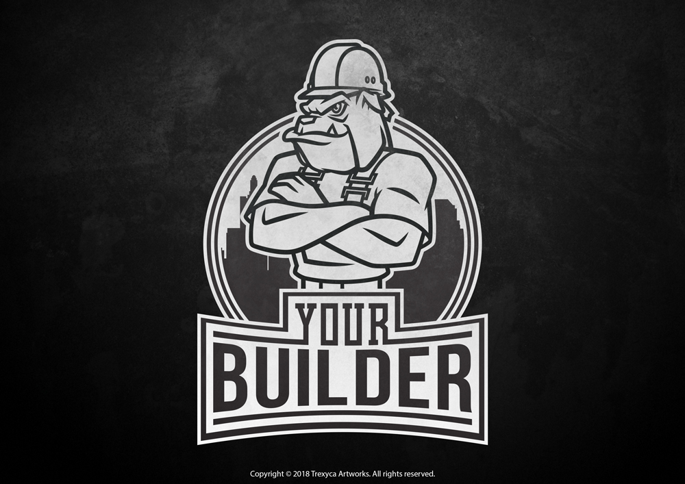 Mascot Logo for a Construction Company by TrexycaArtworks