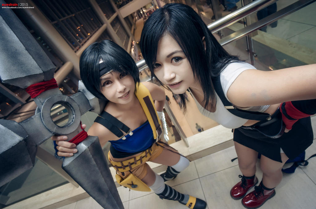 Tifa and Yuffie by am-a-goth