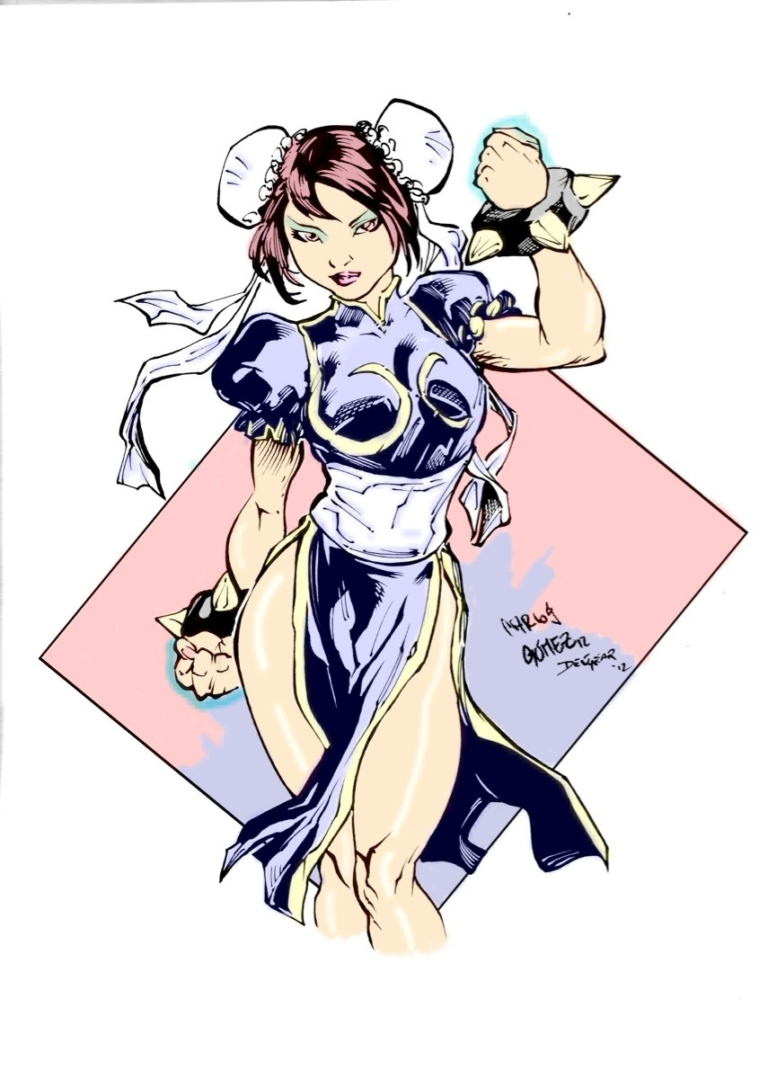 Chun-Li inks+colors by P3ncils
