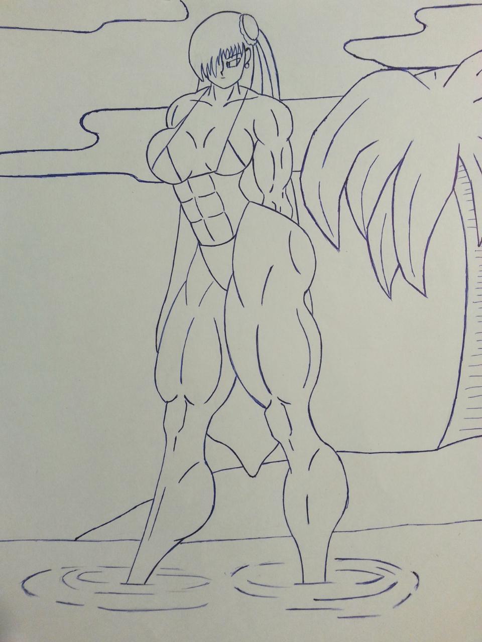 Sexy Chun-Li in bikini! by P3ncils