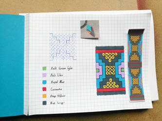My first page of my homemade sketchbook by Bronwyn-Tudor