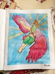Flying man by Bronwyn-Tudor