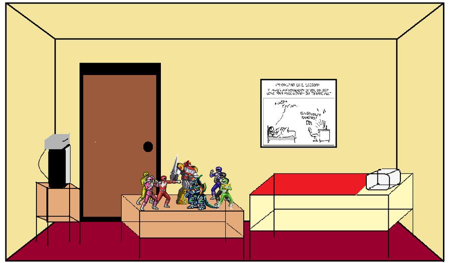 Power Ranger Geek\'s Bedroom by TheBlastoise on DeviantArt