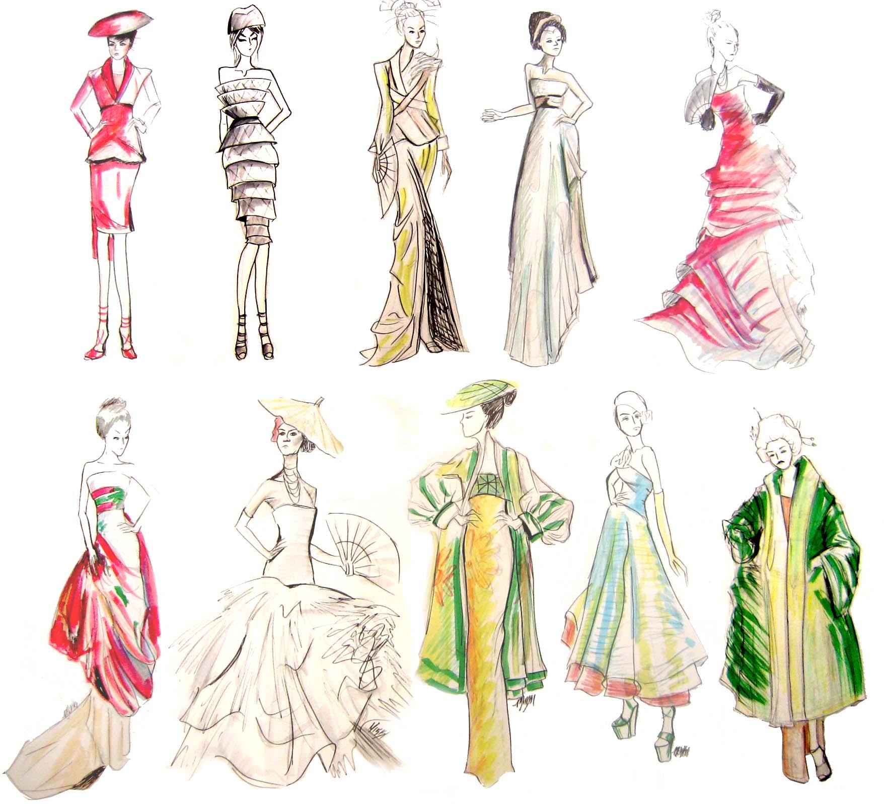 Fashion design sketching book 50
