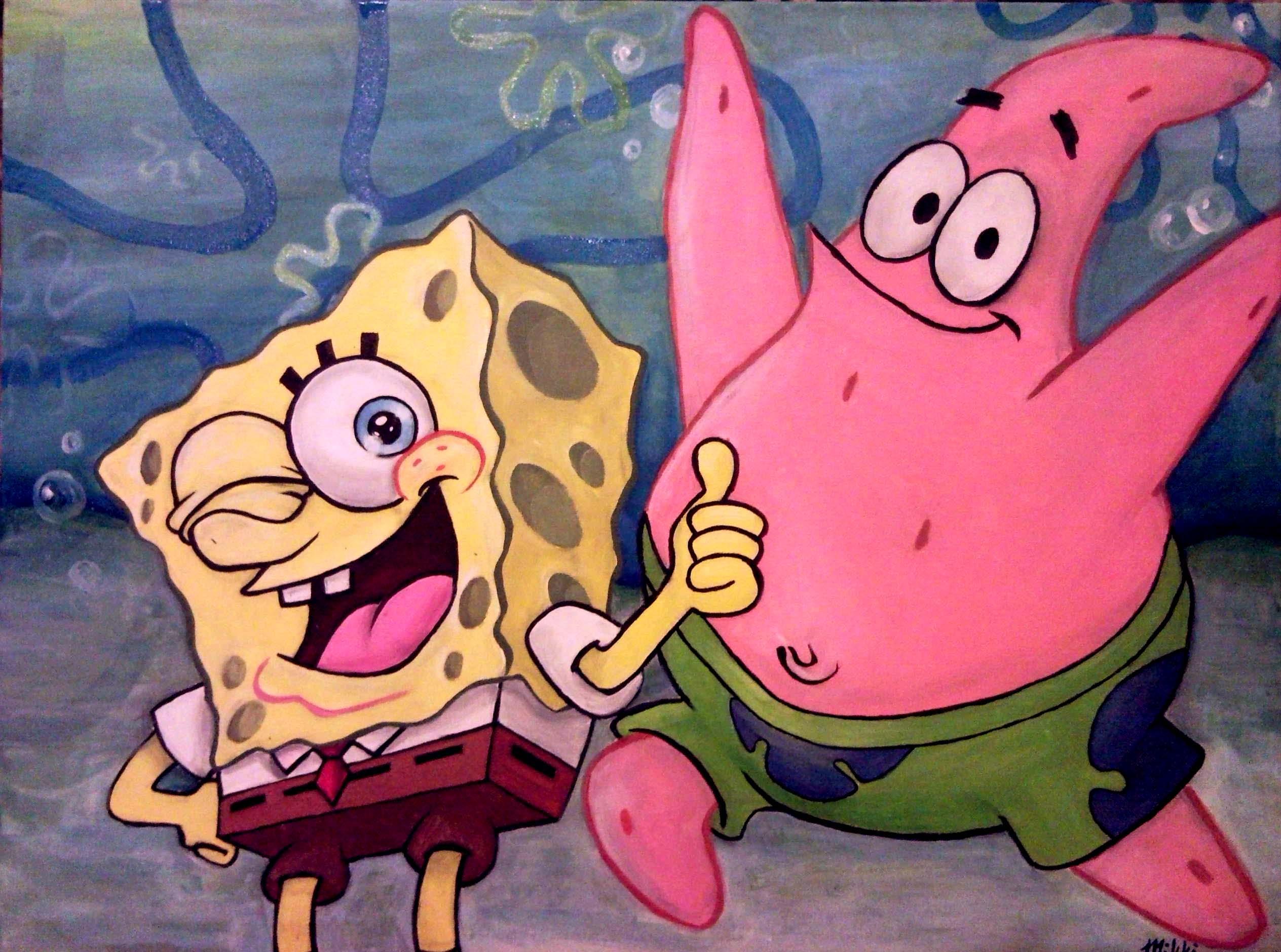 spongebob and patrick by karmaela on deviantart