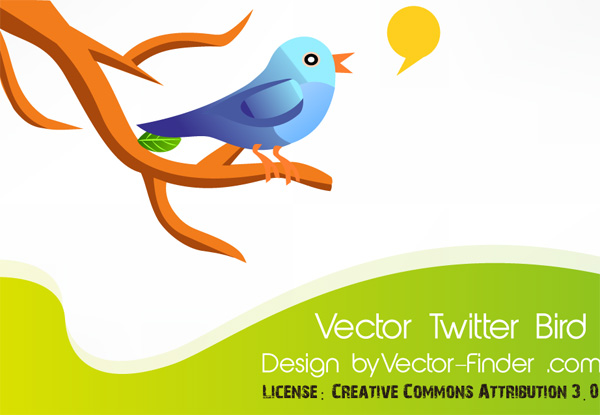 Free Vector Twitter Bird by freeiconsweb