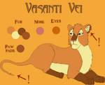 Vasanti Vei Character Sheet