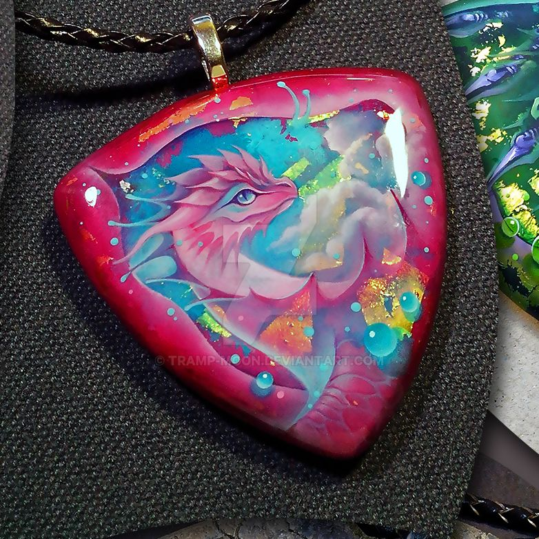 Dragon pendant with a dragon by Tramp-Moon