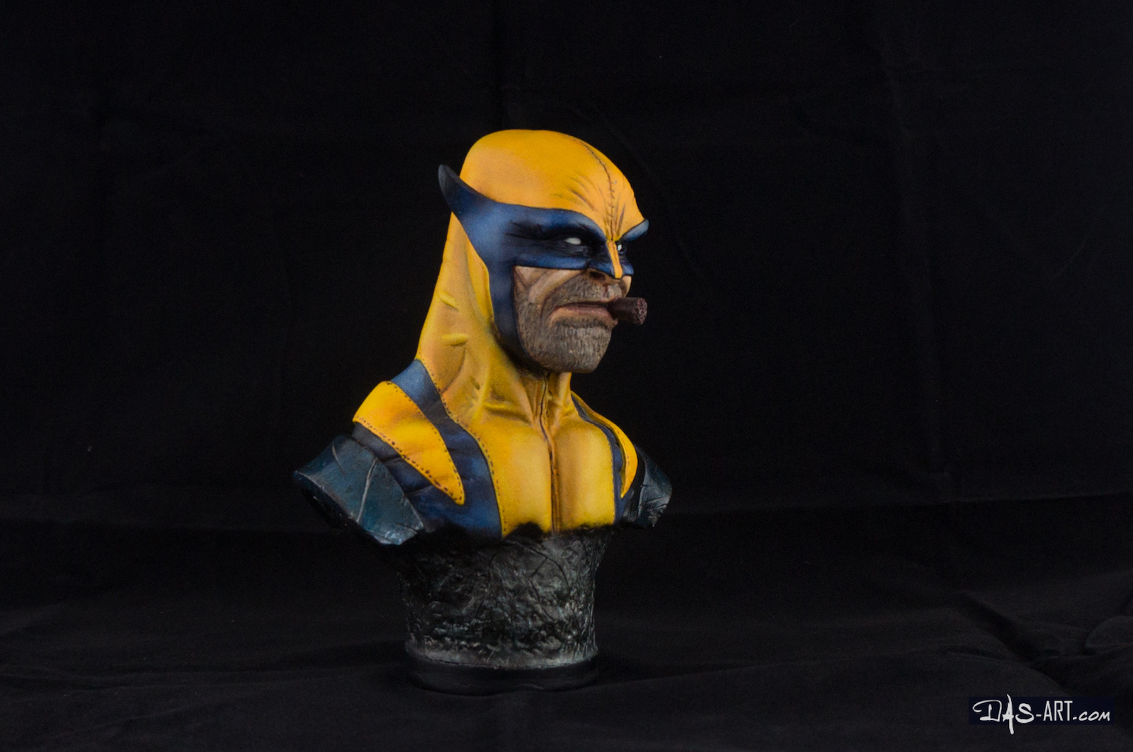 [GK painting #01] Wolverine bust - 008 by DasArt