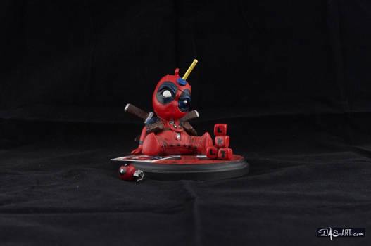 [Garage kit painting #04] Babypool statue - 001