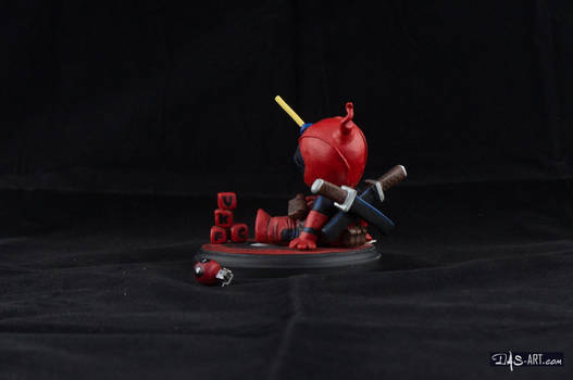 [Garage kit painting #04] Babypool statue - 004