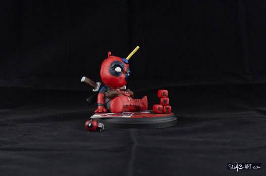 [Garage kit painting #04] Babypool statue - 008