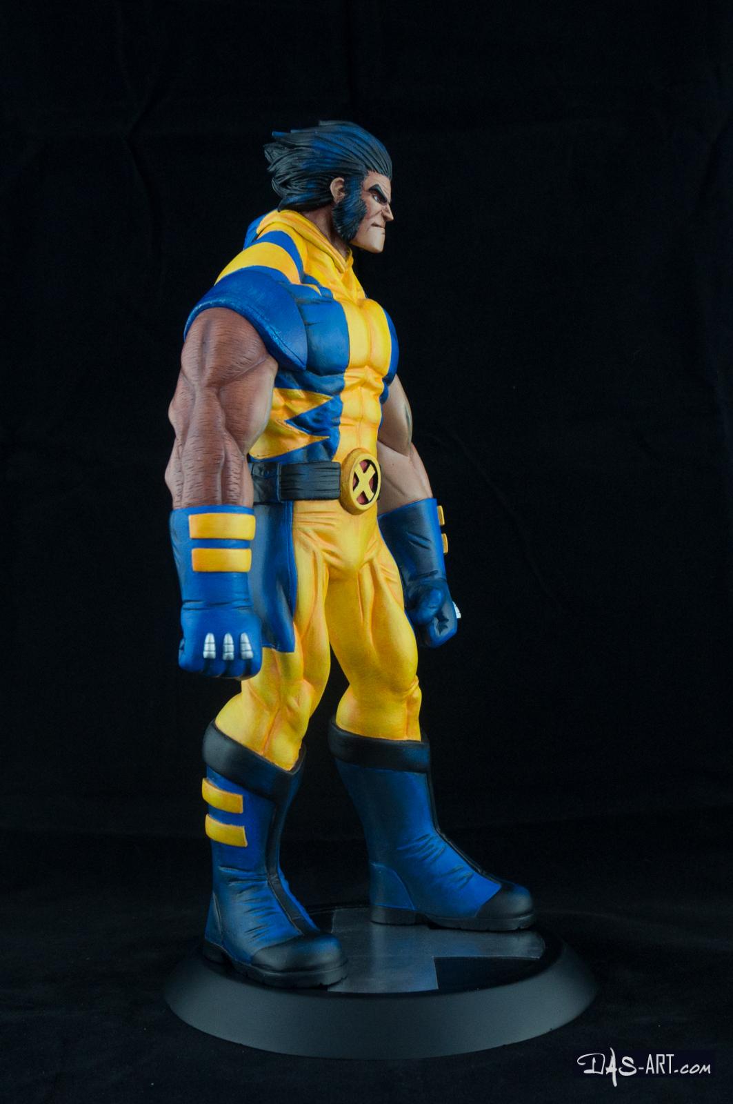 [Garage kit painting #05] Wolverine statue - 015
