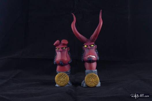 [Garage kit painting #12] Hellboy busts - 001