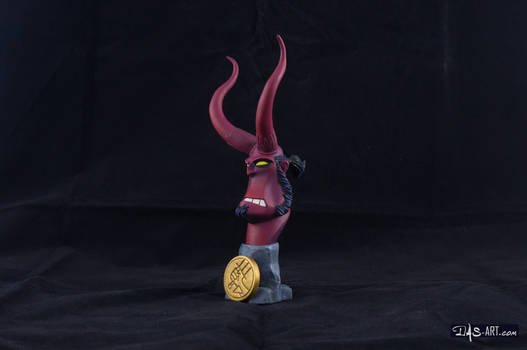 [Garage kit painting #12] Hellboy busts - 003