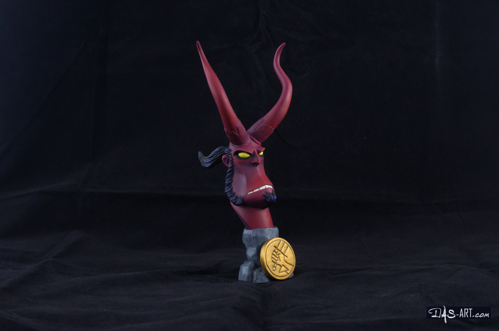 [Garage kit painting #12] Hellboy busts - 009 by DasArt