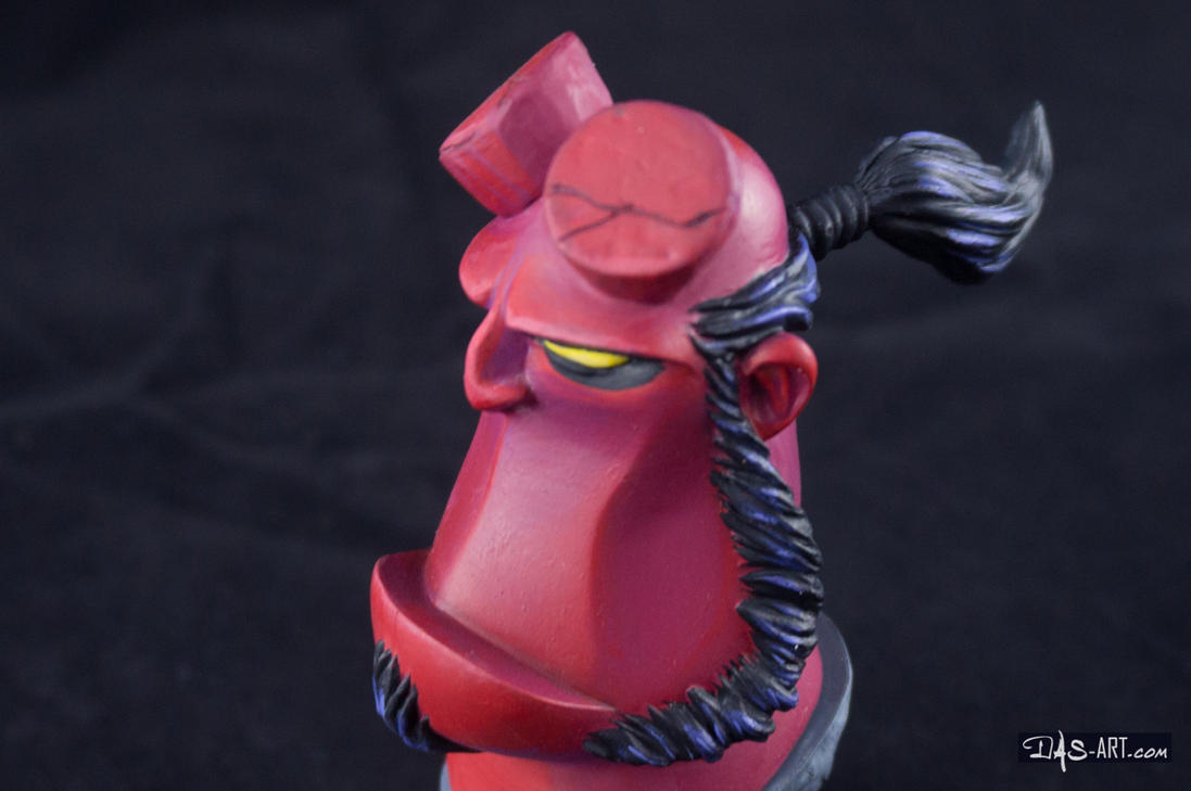 [Garage kit painting #12] Hellboy busts - 026 by DasArt