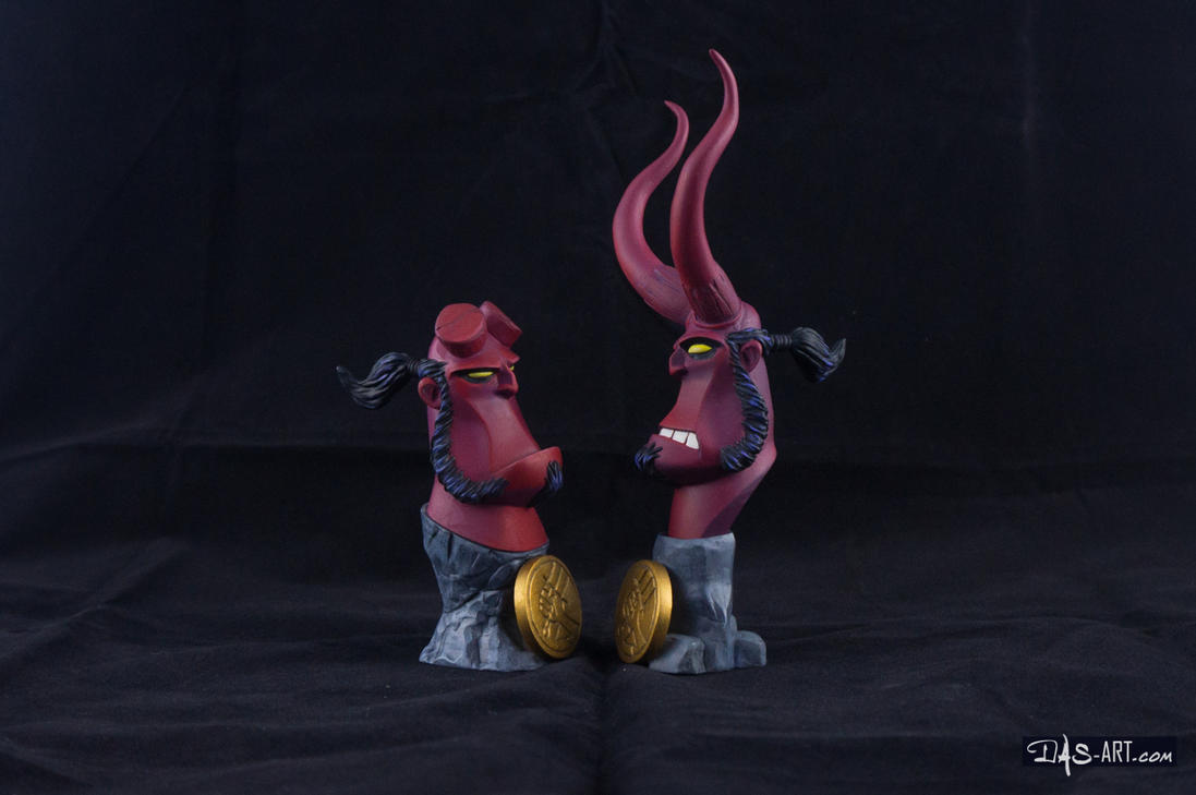 [Garage kit painting #12] Hellboy busts - 027 by DasArt