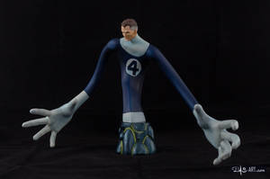 [Garage kit painting #17] Mr. Fantastic bust - 002 by DasArt