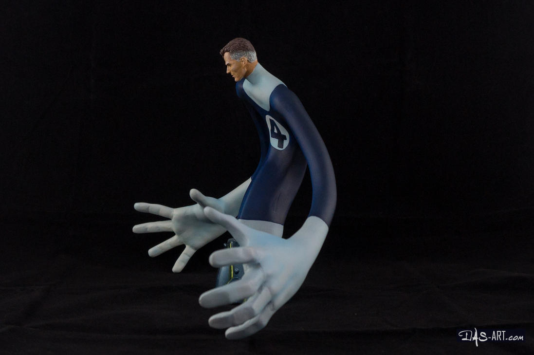 [Garage kit painting #17] Mr. Fantastic bust - 003 by DasArt