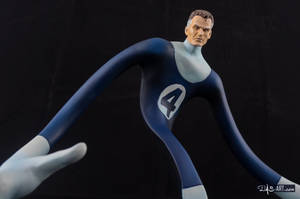 [Garage kit painting #17] Mr. Fantastic bust - 009 by DasArt