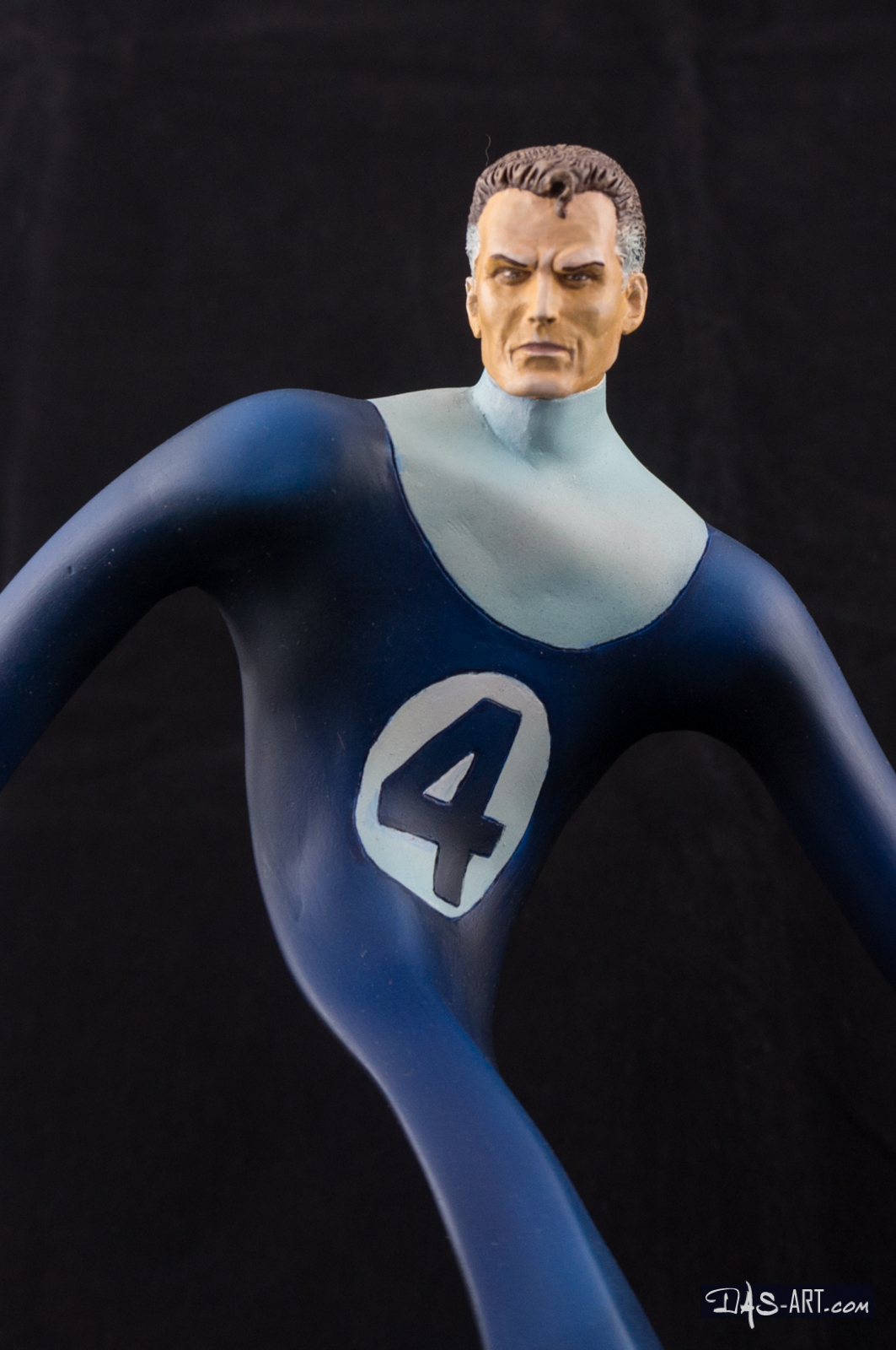 [Garage kit painting #17] Mr. Fantastic bust - 010 by DasArt