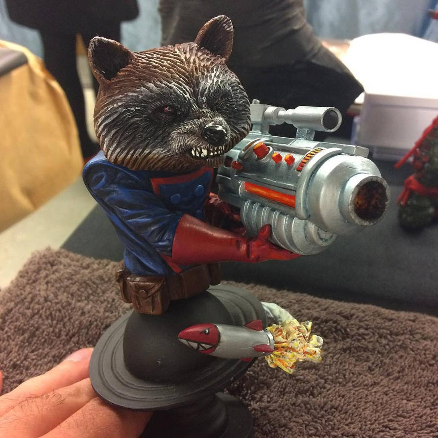 Rocket Raccoon WIP-Salon Fantastique 2017 by DasArt