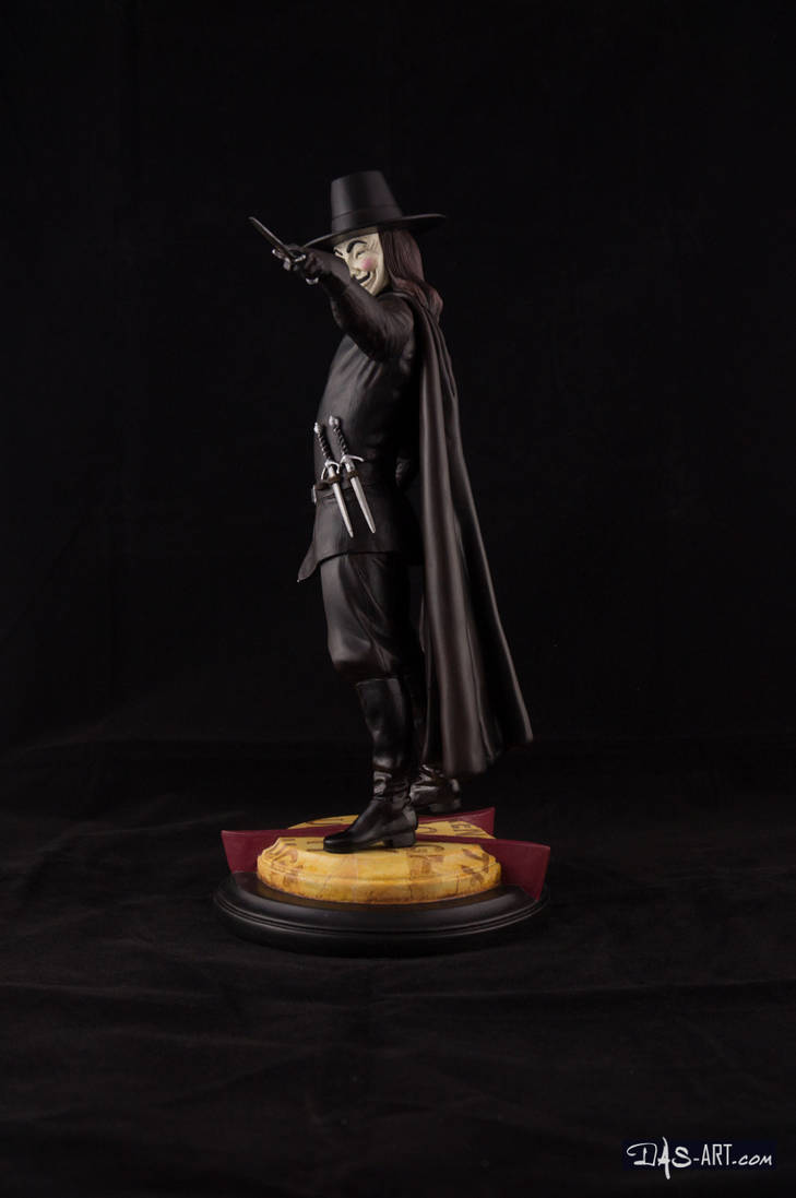[GK painting #18] V for Vendetta statue - 003 by DasArt
