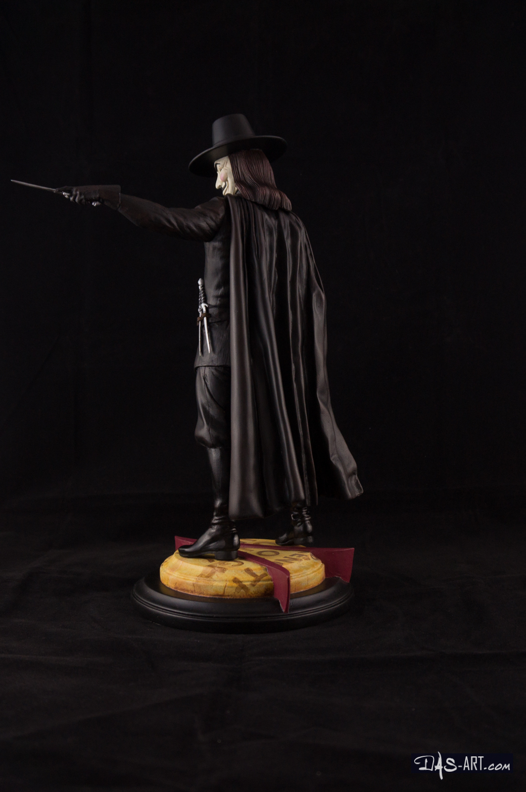 [GK painting #18] V for Vendetta statue - 004 by DasArt